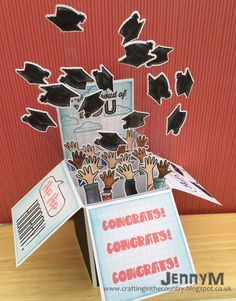 Hi there :)   It's been a busy week but I've finally got a chance to share the Graduation card I made for our daughter, I cannot believe how...