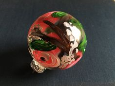 Glass Ornament  Floral Design I by KatherineLorraineArt on Etsy