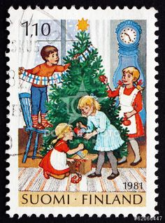 http://www.dollarphotoclub.com/stock-photo/Postage stamp Finland 1981 Decorating Tree, Christmas/62066447 Dollar Photo Club millions of stock images for $1 each