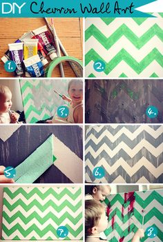 DIY Chevron Wall Art!