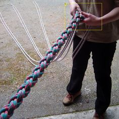 I'm not spending $100 for 1 heavy duty climbing rope when I can make this for less.