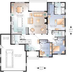 Flexible Family Home Plan - 22367DR | 1st Floor Master Suite, Bonus Room, CAD…