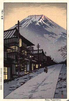 Fuji from Yoshida, Yamanashi by Shiro Kasamatsu, 1958富士吉田 笠松紫浪