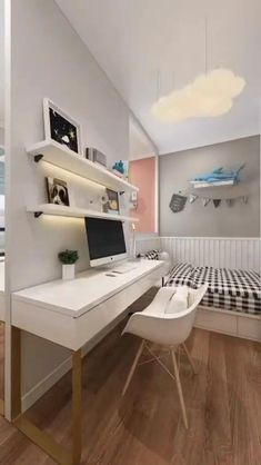 Functional Shared Kids Room Ideas For Two Children #kidsroom #kidsroomdecor #kidsroominspo #kidsrooms #kidsroomideas #kidsroominspiration #kidsroomdesign #kidsroominterior #kidsroomstyling #kidsroomart #kidsroomstyle #kidsroominteriors #kidsroomdetails #kidsroomdecoration #kidsroomdeco #kidsroomdecoridea #kidsroomprint #kidsroomstylecardiff #kidsroomwallprint #kidsroomwallart #kidsroomscreenprint #kidsroomwalldecor #kidsroomproducts Room Design Bedroom, Teen Bedroom Designs, Home Room Design, Small Room Bedroom, Bedroom Decor, Small House Interior Design, Small Room Design, Interior Modern, Cute Room Decor
