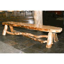 Genuine American-made Aspen Log Bench  ( need this for the pool area )