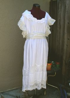 Rustic French Country Dress Bohemian Wedding Dress by KheGreen