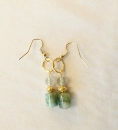 Chrysocolla Dangle Earrings by Earthcentricity on Etsy