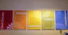 Plexiglass Core Values Sign | John N. Daniello | Company Mission ...