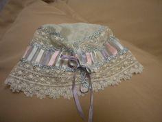 Victorian Silk Ribboned Night Bonnet.   FrenchFolly - Etsy