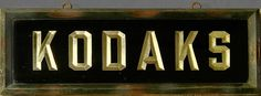 Glass Kodak Sign with Gold Leaf Letters - Early 20th Century by Photo_History, via Flickr