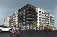 Proposed Olmsted residential building, Nashville with precast concrete risers at street level