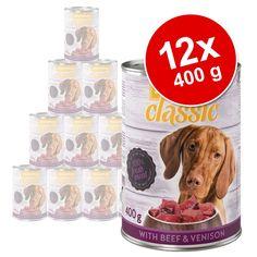 Animalerie  Lot zooplus Classic 12 x 400 g pour chien  lot mixte : poulet / gibier & bœuf