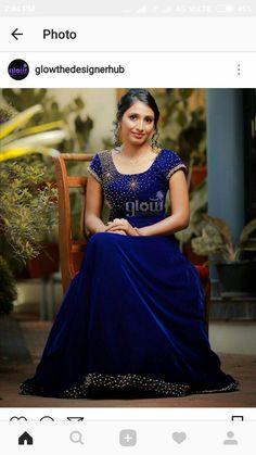 Kerala Engagement Dress, Engagement Dresses, Designer Gowns, Indian Designer Wear, Frock Dress, Dress Skirt, Indian Gowns Dresses, Girls Dresses, Gown Party Wear