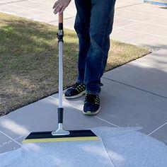 Add beauty to your outdoor concrete floors by using this SpreadRock Granite Stone Coating Flint Gray Satin Interior or Exterior Concrete Resurfacer and Sealer. Concrete Porch, Concrete Bricks, Concrete Driveways, Concrete Floors, Stained Concrete Patios, Painting Concrete Patios, Diy Concrete Slab, Concrete Refinishing, Decorative Concrete