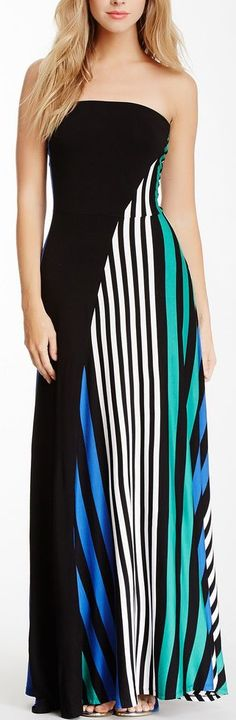 Strapless Knot Back Solid Stripe Knit Maxi Dress manufacturers. Dress Outfits, Dress Up, Fashion Outfits, Womens Fashion, Pretty Outfits, Cute Outfits, Striped Maxi Dresses, Striped Knit, Nordstrom Dresses