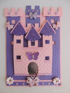 Cards ,Crafts ,Kids Projects: Castle shaped slider card tutorial