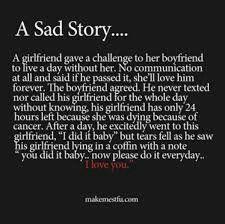 Omigosh this was too sad! :(