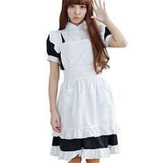 Partiss Damen Sweet Lolita Anime Maid Kostueme Apron Outfit Cosplay Costume Maid Uniform Fancy Dress,Chinese O,Black Partiss http://www.amazon.de/dp/B01CTO28FE/ref=cm_sw_r_pi_dp_neK4wb1P7TXMP