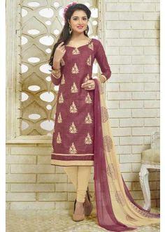 couleur marron coton bhagalpuri costume churidar, -  71,00 €,  #Robeindienne  #Salwarkameezfemme  #Salwarkameezmariage  #Shopkund