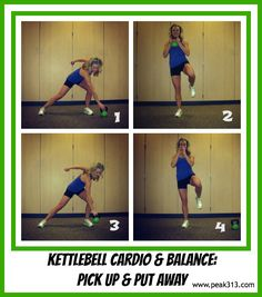Kettlebell Cardio & Balance: Pick up and Put Away : (Video demo included) peak313.com