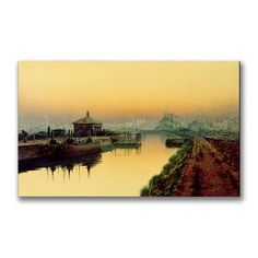 "Trademark Art ""Knostrop Cut Leeds, Sunday Night"" by John Atkinson Grimshaw Painting Print on Wrapped Canvas Size: 1"