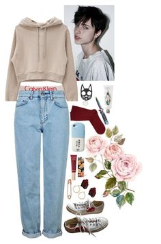 """""""babe"""" by eden-kolb on Polyvore featuring Calvin Klein, Topshop, chuu, Converse, Nordstrom, Too Faced Cosmetics, Valfré, Falke and Buly"""