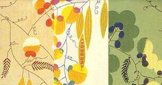 """上野リチ『壁紙「そらまめ」』(部分)Felice """"Lizzie"""" Rix-Ueno  (1893-1967)"""