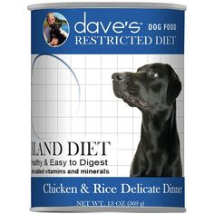 Dave's Pet Food - Restricted Diet Chicken and Rice Delicate Dinner Grain-Free Canned Dog Food, 13oz ** More info could be found at the image url. (This is an affiliate link and I receive a commission for the sales) #PetDogs
