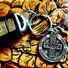 "☀IXOYE Key Ring☀ IXOYE is a Greek acronym —IXOYE—forms the acrostic ""Iesous, Christos, Theou, Yios, Soter"" or ""Jesus, Christ, God's, Son, Savior."" https://bbeni.com/collections/key-chains/products/ixoye-key-ring #keyring  #jewelry   #cross"