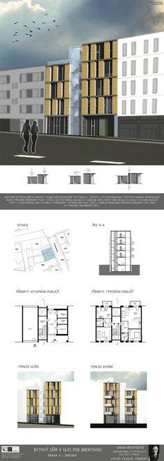 Studentský projekt. LS 2013/2014. FSv ČVUT v Praze. Praha, Floor Plans, House, Home, Homes, Floor Plan Drawing, Houses, House Floor Plans