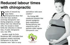 Reduced labor times with Chiropractic!
