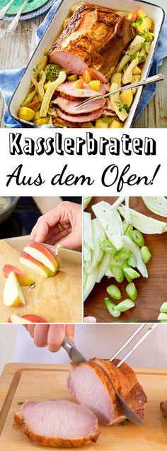 Im Backofen lässt sich ein Kasslerbraten perfekt zubereiten - so wird er extra-saftig! #kochen #familie