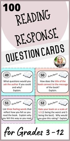 These 100 question cards for any novel will help your students engage in meaningful and insightful discussions about the books they are reading. The cards address setting, characters, plot, theme, symbolism, point of view, style, and more! Students will need to use reading strategies such as inference, summarizing, comparing and contrasting etc. to dig deeper into the text.#closereading #readingworkshop #literaryanalysis Close Reading Lessons, Close Reading Strategies, Middle School, High School, Vocabulary Instruction, Language Arts, English Language, Feelings Words, Ela Classroom