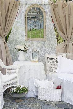 elegant white with rustic burlao