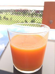 Refrescante, sabroso y vitaminizante!!! Zumo de #mangosdelcielo , zanahoria, naranja y limón. #comefruta #5aldia #mangos