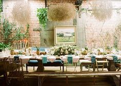 #Decor - Google+ If you're looking for some tablescape inspo for your reception or rehearsal dinner, you've gotta stop by the site to see today's bohemian-meets-wild-west dinner party feature, styled by The Venue Report! We're loving all the details, captured by Braedon Photography: http://greenweddingshoes.com/bohemian-dinner-party-inspiration/