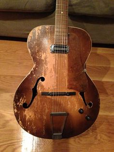 Vintage Silvertone Kay Harmony Archop Electric Guitar - by Old Style Guitars.  lessonator.com