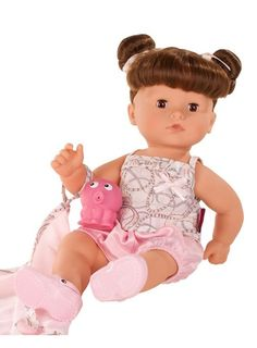 Buy online Gotz Brown Hair Aquini Maxy With Accessories Baby Doll at best prices at Lyallway. Right choice for Online Shopping for Gotz products, friendly cust Bath Doll, Chin Length Hair, Little Cherubs, Vinyl Dolls, Baby Accessories, Brown Hair, Kids Toys, Activities, Girls