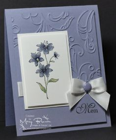 Simply Soft by stampercamper - Cards and Paper Crafts at Splitcoaststampers - Wisteria Wonder, Concord Crush, Pear Pizzazz Tarjetas Stampin Up, Stampin Up Cards, Pretty Cards, Cute Cards, Embossed Cards, Sympathy Cards, Flower Cards, Creative Cards, Greeting Cards Handmade