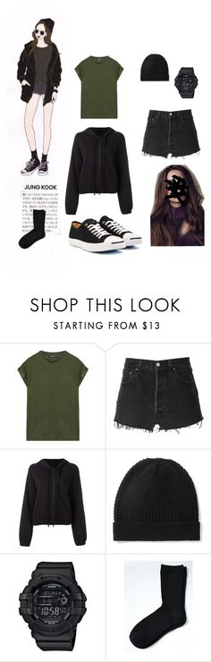 """""""BTS JUNGKOOK ideal type"""" by adivazy on Polyvore featuring Balmain, RE/DONE, Thom Krom, Madeleine Thompson, Baby-G and Banana Republic"""