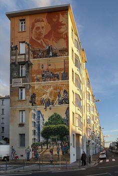 Les temps de la Cité – Le nouveau mur peint conçu et réalisé par CitéCréation pour Grand Lyon Habitat inauguré le 6 décembre, à 18h | CITÉCRÉATION