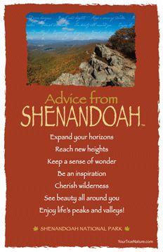 Advice from Shenandoah