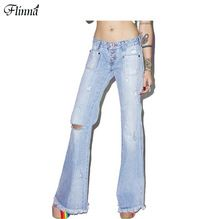 Women 's Long Blue Plus Size Loose Denim Thin High Wide Leg Casual Solid Pants Trousers Jeans(China (Mainland))