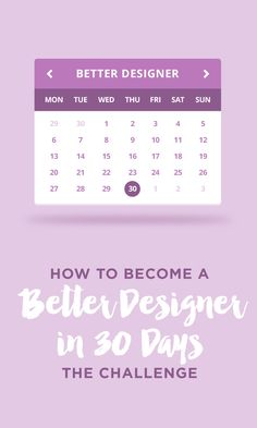 On the Creative Market Blog - How to Become a Better Designer in 30 Days: The Challenge