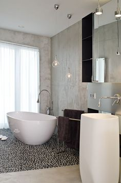 Concrete Bathroom Interior by oooox Beton Design, Concrete Design, Bathroom Design Inspiration, Bad Inspiration, Design Ideas, Shower Inspiration, Design Design, Design Trends, Travel Inspiration