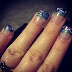 Turquoise&purple nails