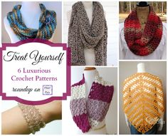 Fiber Flux...Adventures in Stitching: Treat Yourself To 6 Luxurious Crochet Patterns