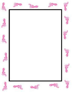 Free Baby Girl Invitation Templates | Free Baby Shower Footprint Invitation - Just Print and Use!