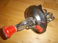 Vintage Androck Kitchen Egg Beater with Red Handle by LadyLindaLou, $8.00
