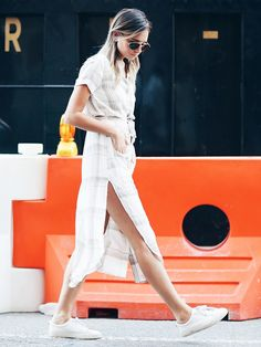 5. Shirtdress and Sneakers